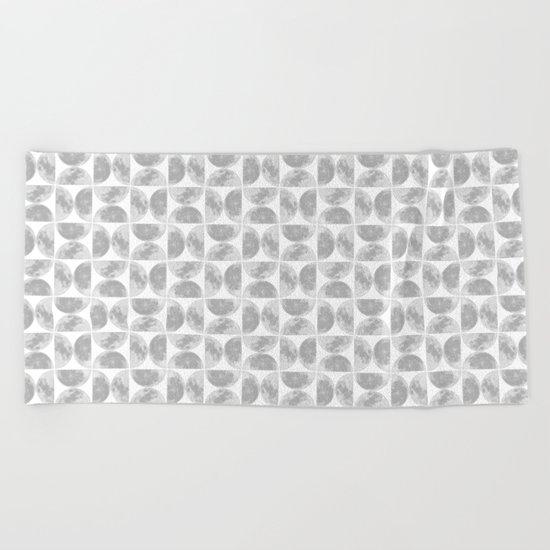 Moon Pattern #2 Beach Towel