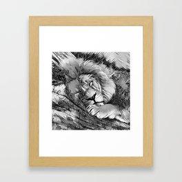 AnimalArtBW_Lion_20170604_by_JAMColorsSpecial Framed Art Print