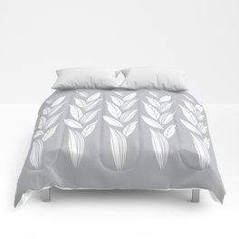 Eternity in Silver Leaf Comforters