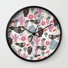 Playful forest Wall Clock