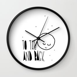 To the moon and back, kids room and nursery deco Wall Clock