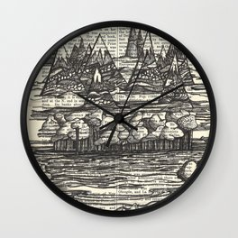 Doodle View Wall Clock