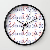 bikes Wall Clocks featuring Bikes  by Keep It Simple