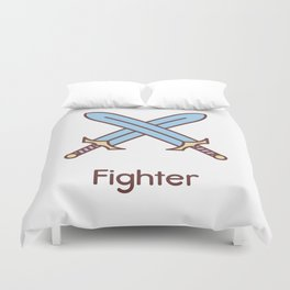 Cute Dungeons and Dragons Fighter class Duvet Cover