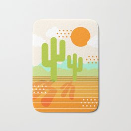 Blazin' - retro vibes southwest socal desert minimal 70s colors throwback 1970's art Bath Mat
