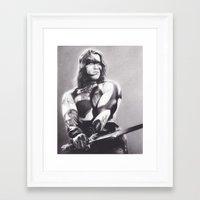 conan Framed Art Prints featuring Conan the Barbarian by Brittni DeWeese