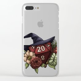 Wizard Class D20 - Tabletop Gaming Dice Clear iPhone Case