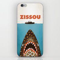 steve zissou iPhone & iPod Skins featuring Zissou by Wharton