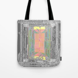 Glitch in the Style of Art Nouveau  Tote Bag