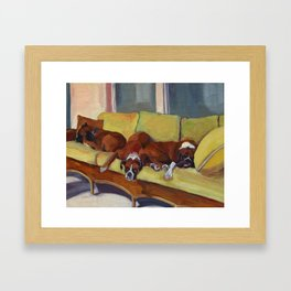 Boxer Dog Siesta Framed Art Print