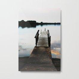 Seneca Lake Pier at Dusk - Colorized Metal Print