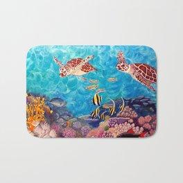 Zach's Seascape - Sea turtles Bath Mat