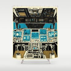 To Outer Space! Shower Curtain