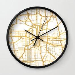 KANSAS CITY MISSOURI CITY STREET MAP ART Wall Clock