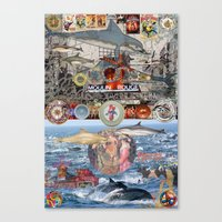 moulin rouge Canvas Prints featuring Dolphin,Dinner Plate, Moulin Rouge by Fredmarinello