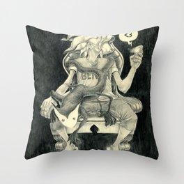 Sitting Heart Throw Pillow