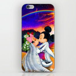 Just Married Mickey & Minnie Wedding iPhone Skin
