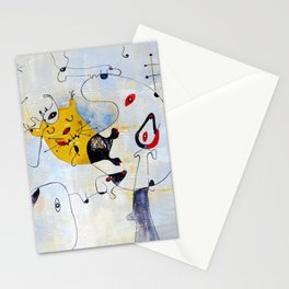 Cat. Inspired By Joan Miro Stationery Cards