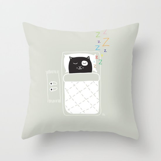 The Happy Dream Throw Pillow