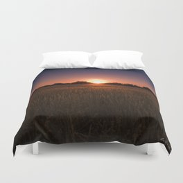 African Kalahari Sunset Duvet Cover