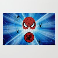 spider man Area & Throw Rugs featuring Spider Man by haroulita