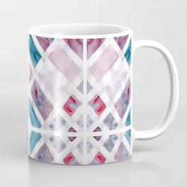 Geometric Jewel Watercolour Coffee Mug