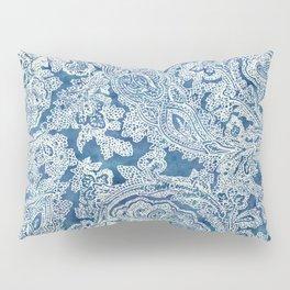 Blue Boho Paisley Pattern Pillow Sham