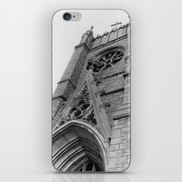 kansas city iPhone & iPod Skins featuring Kansas City Church by Michelle Chavez