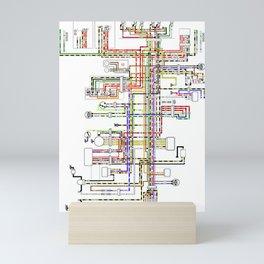 Colorful electric scheme Mini Art Print