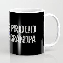 Police: Proud Grandpa (Thin Blue Line) Coffee Mug