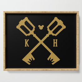 Crossed Keys Serving Tray