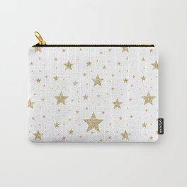 gold stars pattern white Carry-All Pouch