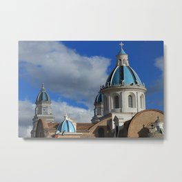 Domes on the Quinche Basilica Metal Print