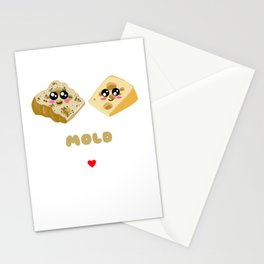 Let's Grow Mold Together Funny Cheese Pun Stationery Cards