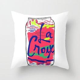 passionfruit La Croix or death Throw Pillow