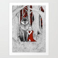 The Wolf & I Art Print