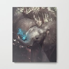The Magical Elephant Metal Print