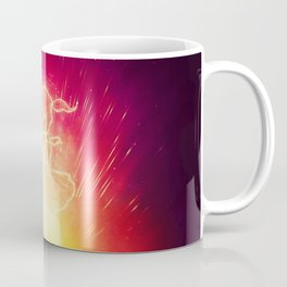 Cosmo + Celeste ( Colorful Cosmological Night Sky Couple in Love ) Coffee Mug