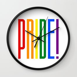 Pride! Colorful Rainbow Flag Colors LGBT Gay Pride Support Wall Clock