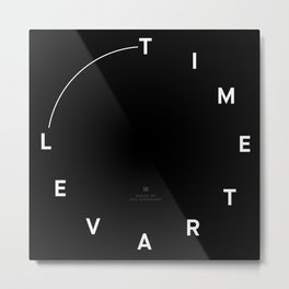 Timetravel Wall Clock Metal Print