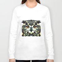 polygon Long Sleeve T-shirts featuring Polygon Owl by Andrew Mason
