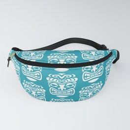 Tiki Pattern Turquoise Fanny Pack