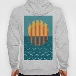 Minimalist Sunset Over Ocean, Holiday Print, Sun Set Poster, Large Printable Photography, Wall Art Hoody