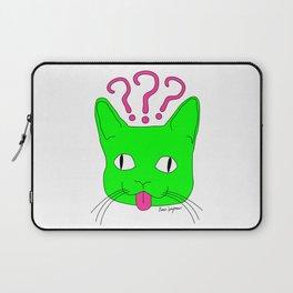 """""""Heckin Confused Derp Cat V.2"""", by Brock Springstead Laptop Sleeve"""
