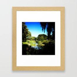 Monet's Garden in Chicago Framed Art Print