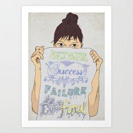 Positive about Ambiguity Art Print