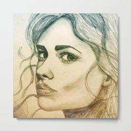 GIRL - ILLUSTRATION Metal Print