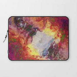 Shades of Red Abstract Laptop Sleeve