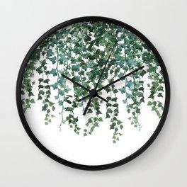 Ivy Watercolor Wall Clock