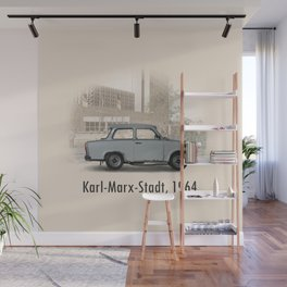 A Trabant in Karl-Marx-Stadt Wall Mural
